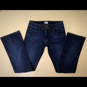 HUDSON Mid Signature Boot Jeans, Size 27